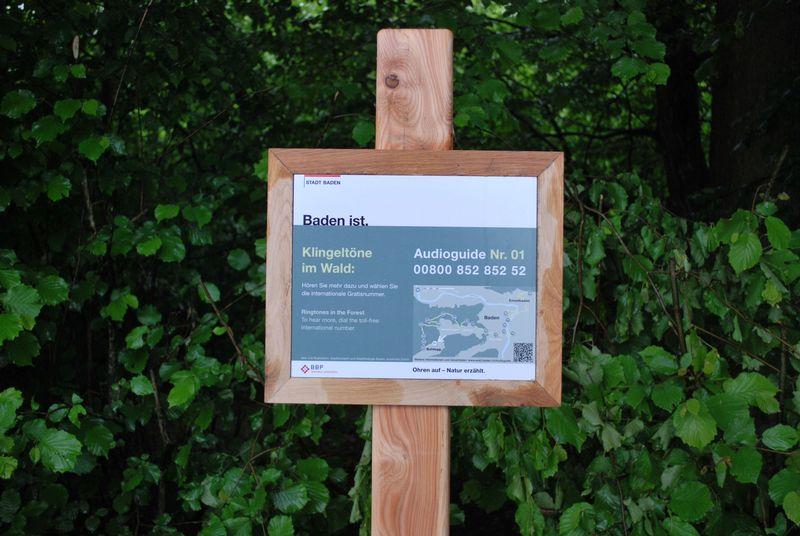 Infotafel Audioguide im Badener Wald